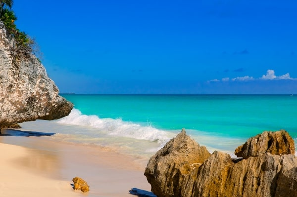 The beautiful Tulum beach at Cancun