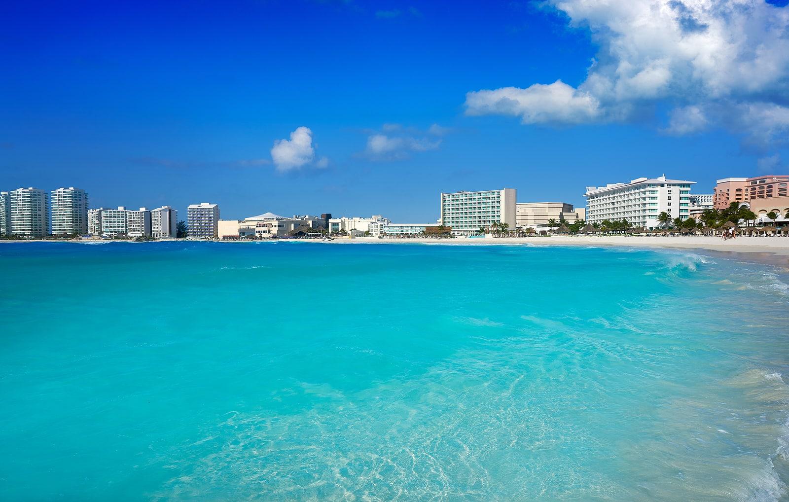 Cancun Forum beach Playa Gaviota Azul in Mexico at Hotel Zone by krystal international vacation club
